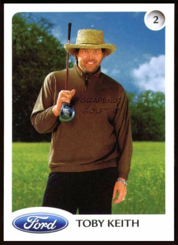 TOBY KEITH 2005 FORD PROMO GOLF COUNTRY MUSIC SUPERSTAR CARD RARE