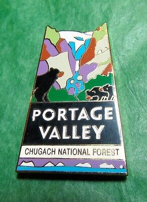 PORTAGE VALLEY CHUGACH NATIONAL FOREST BEARS ALASKA TRAVEL SOUVENIR MAGNET (341)