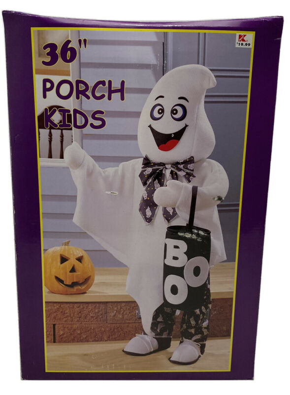 "Vintage Porch Kids Halloween Standing Ghost K-mart 36"" Trick-or-Treat Greeter"