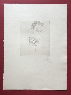 Jonas Hafner, Bacchus, Radierung, 1974, handsigniert und datiert