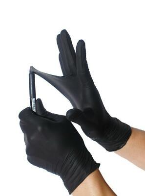 Black Nitrile Gloves Extremely Durable S M L Xl Powder Free Exam 50 - 1000 Pcs