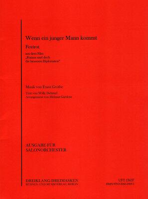 Wenn ein junger Mann kommt Noten für Combo Salonorchester Helmut Gardens (Arr.)