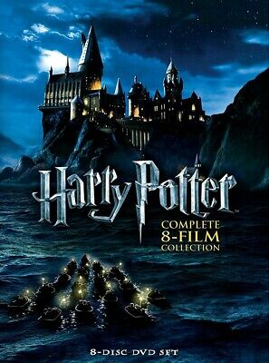 Harry Potter Complete 8-Film Collection (DVD, 8-Disc Set) USA SELLER.