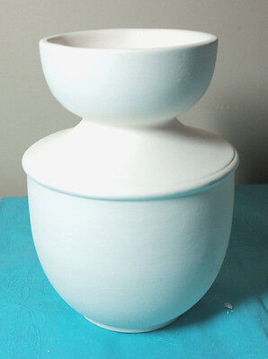 Ceramic Bisque Hyacinthia or Flower Vase- Ready to Paint