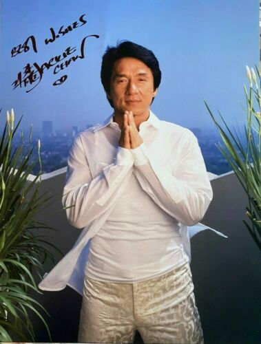 Jackie Chan signed autographed 11x14 Photo Huge Rare