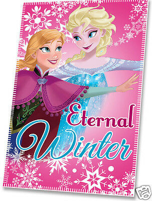 Frozen Blanket Fleece Throw pink Elsa Anna Eternal Friends Disney gift Christmas