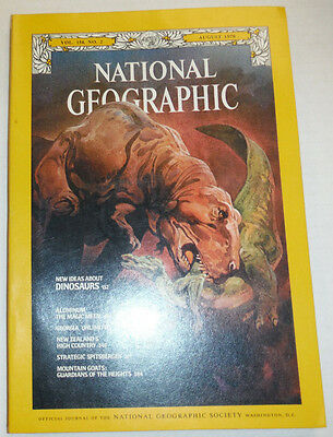 National Geographic Magazine New Ideas About Dinosaurs August 1978 121314R2