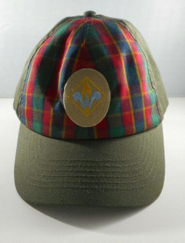 BSA Webelos Ball Cap - Boy Scouts of America - Size S/M - Olive Green w/ Plaid