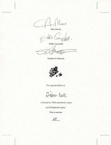 ALAN MOORE SIGNED FROM HELL PAGE STEVE BISSETTE & EDDIE CAMPBELL AUTOGRAPH ALSO