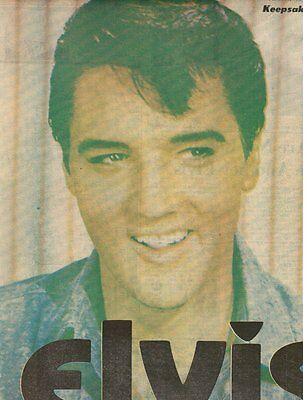 Elvis Presley Newspaper  Charlotte Observer 8 19 77  Sunday Pull Out  Folded