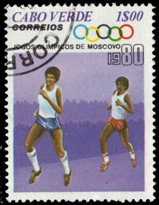 """CAPE VERDE 403 - Moscow Summer Olympics """"Runners"""" (pa57709)"""
