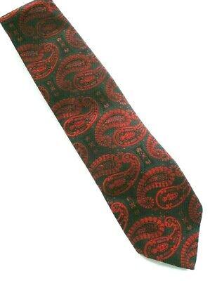 1960s – 70s Men's Ties | Skinny Ties, Slim Ties VINTAGE 1960'S OLEG CASSINI BLUE RED LARGE PAISLEY DESIGN NECKTIE  $17.00 AT vintagedancer.com