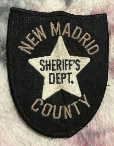 """vintage """"NEW MADRID COUNTY SHERIFF DEPT"""" PATCH mo MISSOURI LAW OFFICER police"""