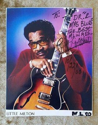LITTLE MILTON - 8x10 Color Photograph Picture Autograph Signed to Dr & Mrs Blues