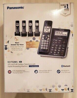 Usado, Panasonic KX-TG985 ( kx-tg985sk )  DECT 6.0 Bluetooth 5-handset Phone Bundle NEW comprar usado  Enviando para Brazil