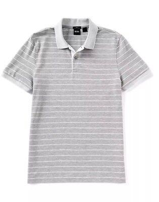 (HugO BOSS Phillipson Modern Fine Stripe Pique Short-Sleeve Polo Shirt Size L)