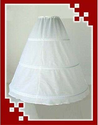 White 3-Hoop 1-Layer Wedding Dress Petticoat - Clearance (Layer Petticoat)