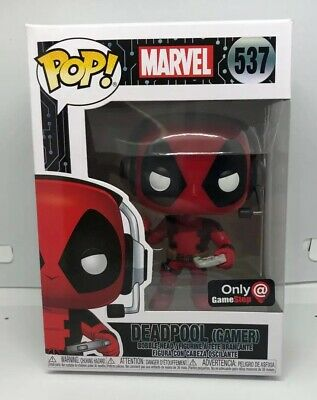 Funko Pop! Marvel #537 Deadpool Gamer Gamestop Exclusive New