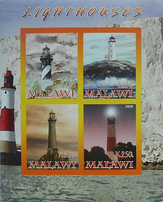 LIGHTHOUSES  LIGHTHOUSE M/S MALAWI 2008 MNH IMPERF F443