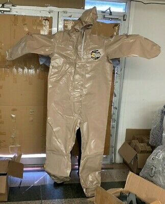 NEW Kappler Zytron 300  Chemical HazMat Coverall WITH Hood SM-MD SMALL MEDIUM