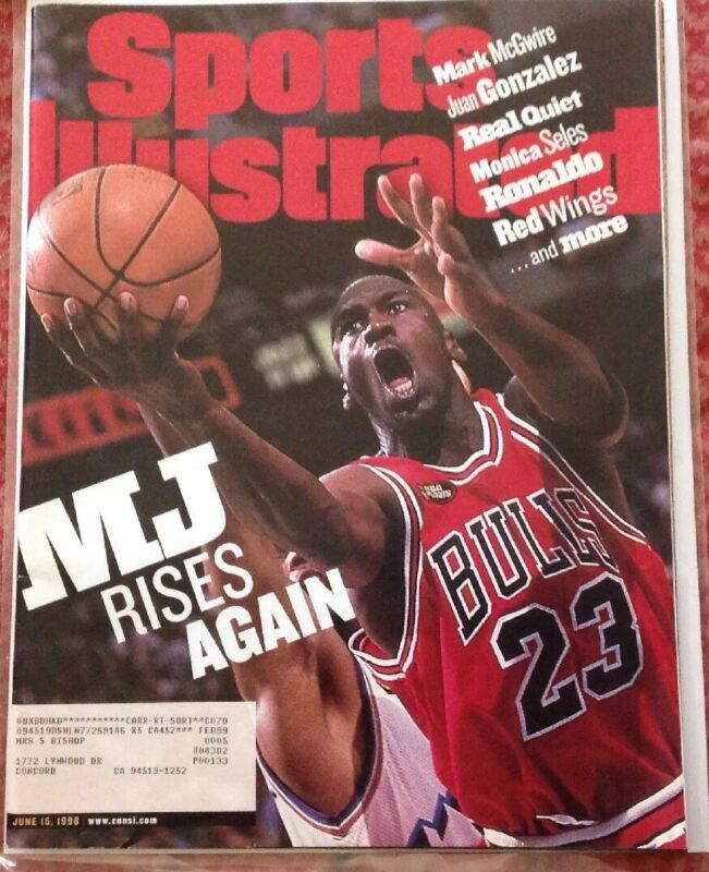 Michael Jordan Sports Illustrated Magazine June 15th 1998 The Last Dance Bulls