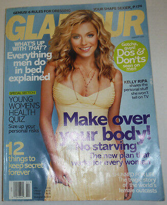 Glamour Magazine Kelly Ripa   Everything Men Do February 2005 No Ml 123014R