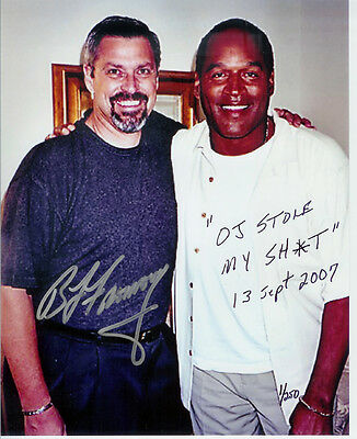 Oj Simpson Bruce Fromong Signed 8X10   The Guy That Put Oj In Jail  Autographed