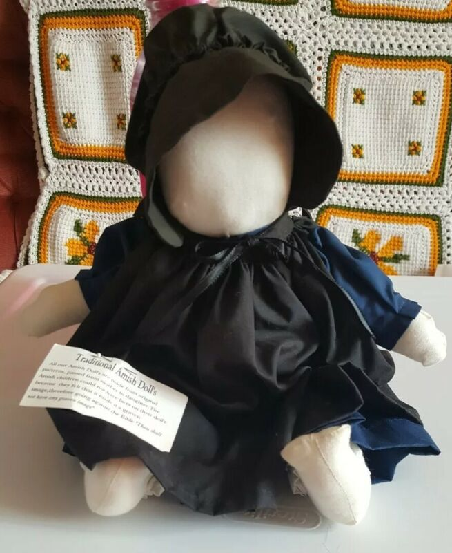 HANDCRAFTED AMISH/MENNONITE FACELESS CLOTH DOLL