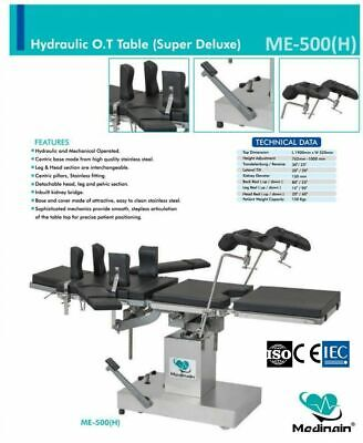Ot Surgical Operation Theater Operating Table Surgical Me -500 H Hydraulic Gr