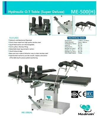 Me -500 Ot Table Surgical Operation Theater Operating Table Surgical Detachable
