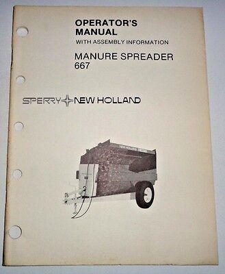 New Holland 667 Slurry Manure Spreader Operators Manual 882 Original Nh