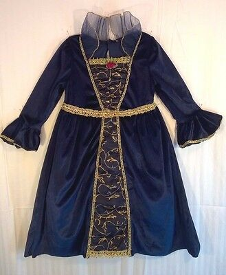 Little Girl's Blue-Gold MEDIEVAL-RENAISSANCE FESTIVAL- PRINCESS Dress-Up COSTUME - Little Girl Dress Up Clothes