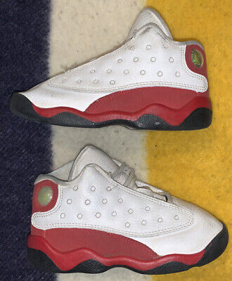 Nike Air Jordan XIII 13 Cherry Baby Toddler Shoes Sneakers 8 8C OG White Red