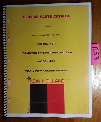 New Holland 450 Mounted 455 Trail Pitmanless Mower Service Parts Manual 268