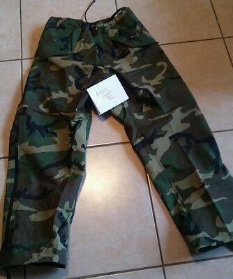 Medium Regular USGI Military BDU Woodland Gore-Tex Camo Pants Cold Weather ECW