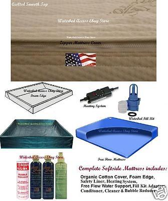 Twin Waterbed Mattress - Twin SOFTSIDE WATERBED MATTRESS Very Comfortable Made In the USA