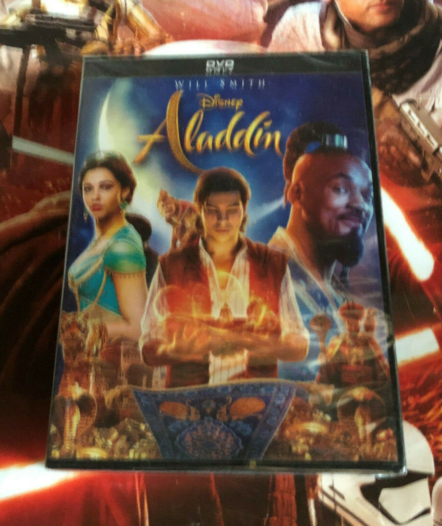 Aladdin (DVD 2019) Will Smith Live Action - Brand New and Sealed