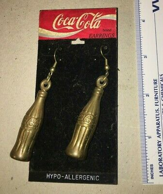 Coca Cola Dangling Earrings New FREE SHIPPING
