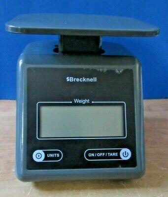 Brecknell Electronic Shipping Scale 7 Lb Capacity Weight Platform Gray Ps7
