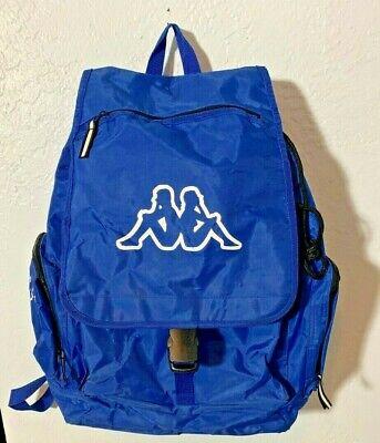 Vintage Kappa Large Blue Nylon Backpack Rucksack Travel Bag Waterproof 19x13x7