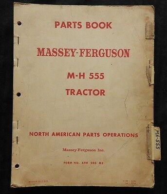 1958-61 Massey Harris Ferguson M-h 555 Mh555 Tractor Parts Catalog Manual Good 1