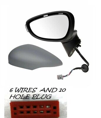 Ford Focus Mk3 2011-/> Wing Mirror Glass Convex N//S Passenger Side Left
