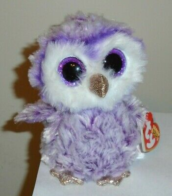 Ty Beanie Boos ~ MOONLIGHT the Owl (6 Inch) 2019 NEW ~ IN HAND