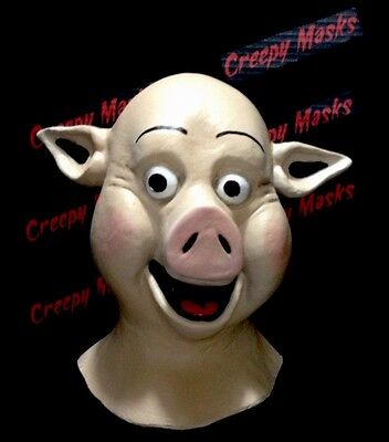 Happy Pig Mask Prop Replica Dvd Creepy Halloween Clown Animal Unfaithfully Yours