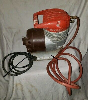 Vintage Devilbiss Portable Air Compressor With Ge Motor As Is Not Working