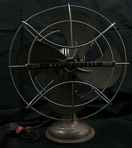 Vintage Westinghouse Electric Fan 115 Volts .8 Amps Made In The USA