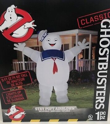 Genny Stay Puft Marshmellow Man GHOSTBUSTERS 9 Foot Halloween Inflatable NIB - Stay Puft Inflatable