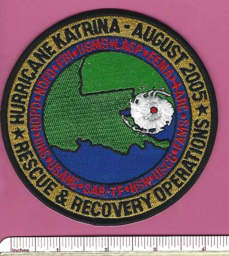 Hurricane Katrina Rescue & Recovery Multi Agency Task Force Police Patch - 2005