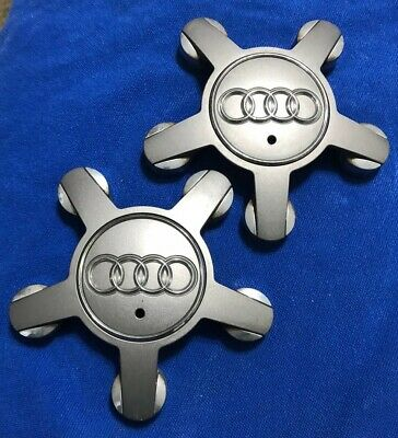 09 10 11 12 13 14 15 16 Audi A4 17'' Wheel Center Cap Set of 2 OEM