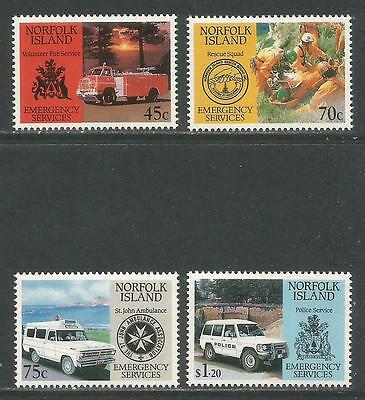 Norfolk Island 1993 Emergency Services--Attractive Topical (534-37) MNH